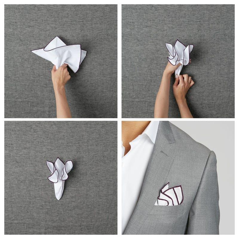 wedding suits for men how to fold a pocket square