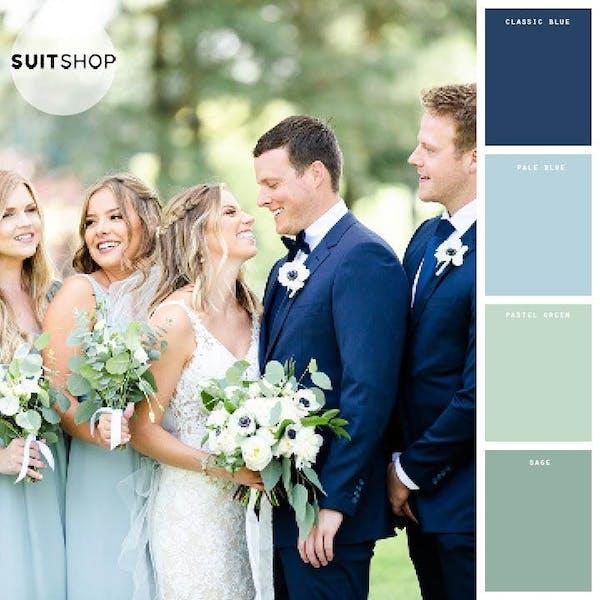 blue wedding colors