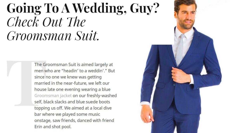 blue suit review