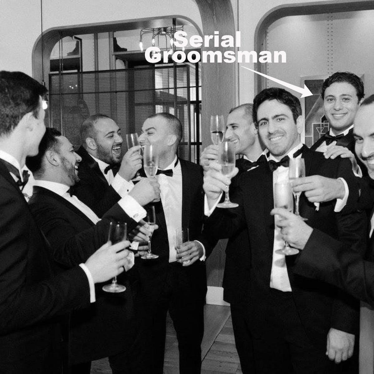 Groomsmen in Tuxedos