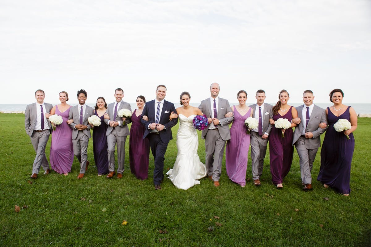 Navy groom suits and gray wedding suits for men
