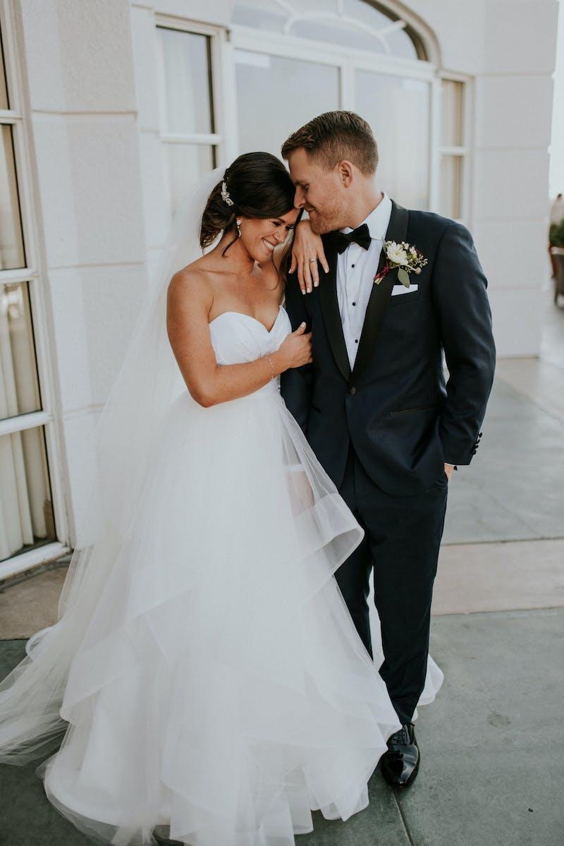 navy blue tuxedo wedding attire