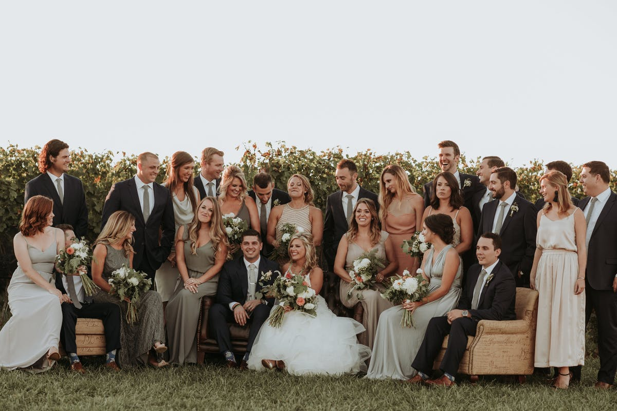 Handsome Groomsmen in Fall Vineyard Wedding