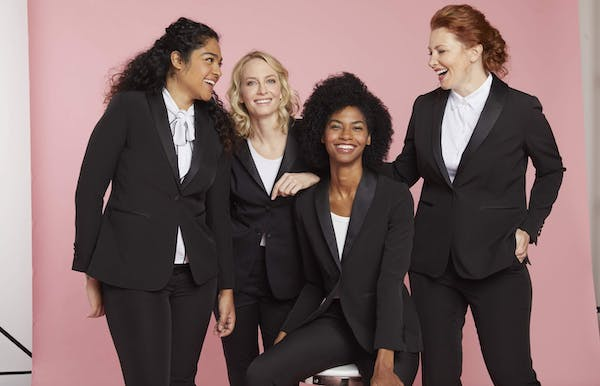 Women's tuxedo shirts and other ideas to style your tuxedo or dressy pant suit.