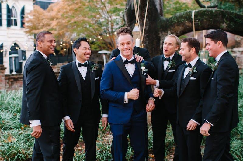 Groomsmen In Wedding Tuxedos and tuxedo shoes