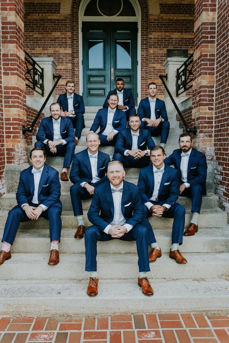 navy wedding suits for men