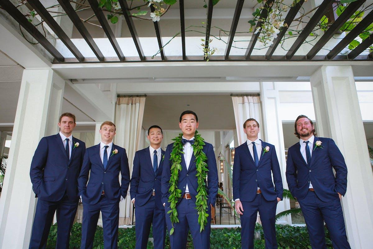 Destination Wedding Style for Groomsmen
