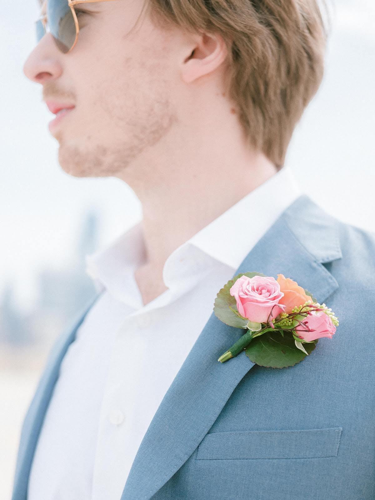 Spring Wedding Ideas: Blush Pink Boutonniere