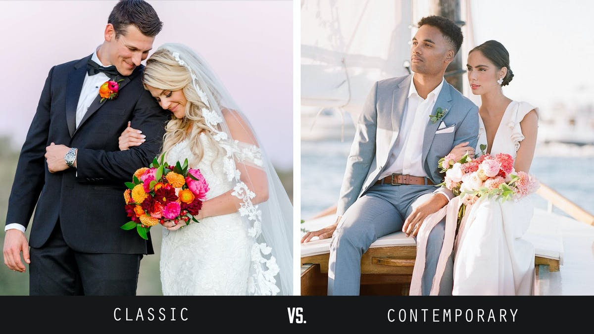 how to dress for a modern wedding vs a traditional wedding