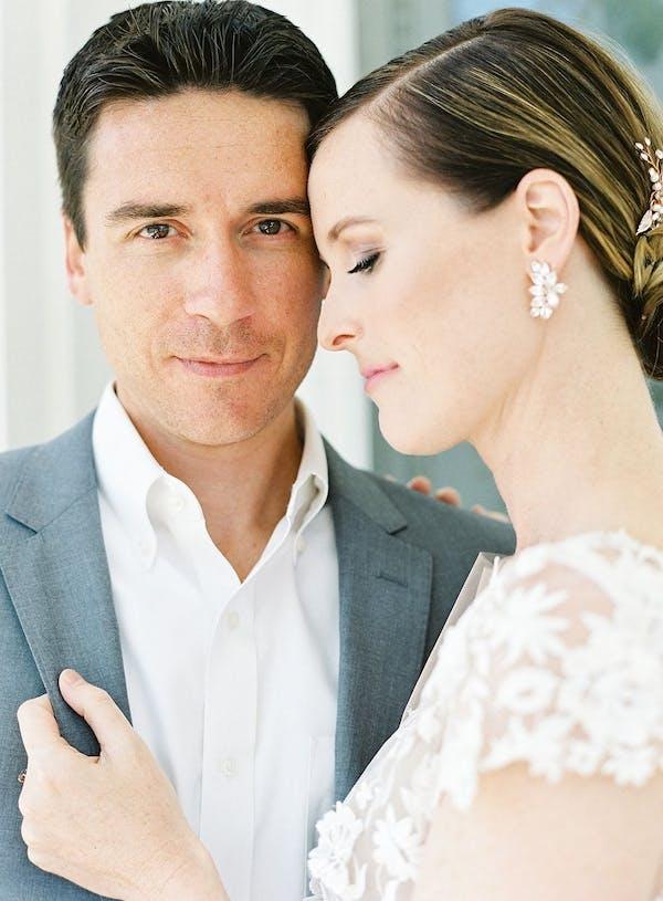 open collar wedding look