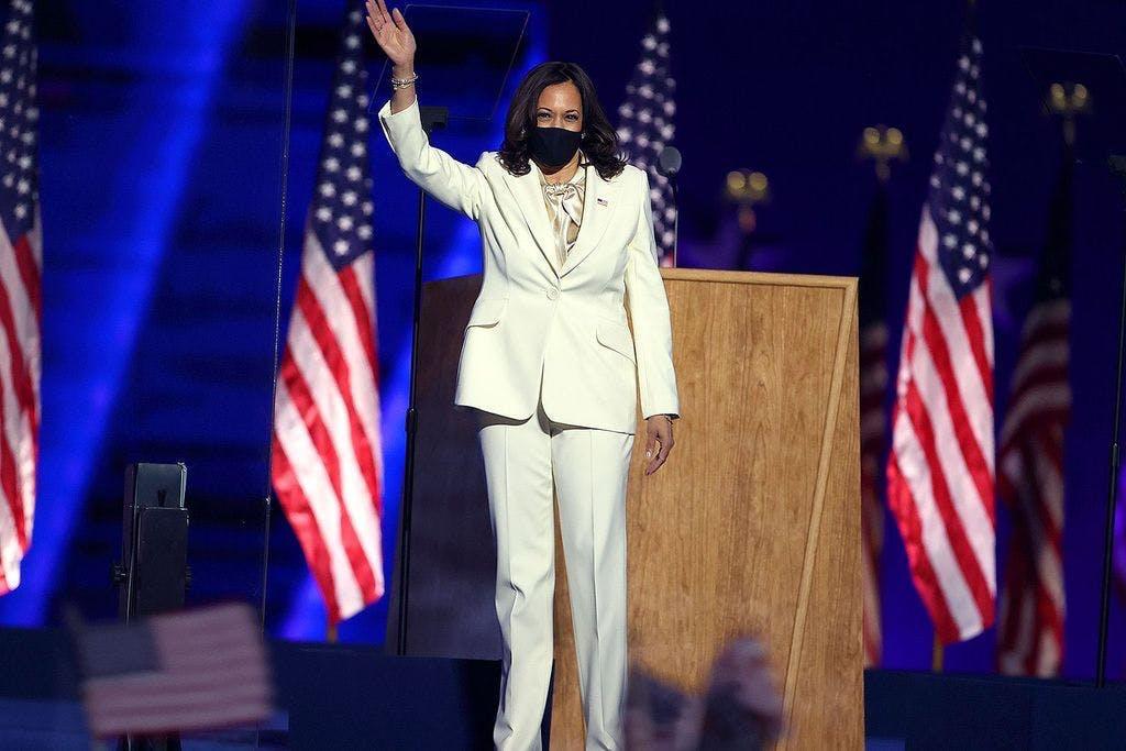 Kamala Harris white suit