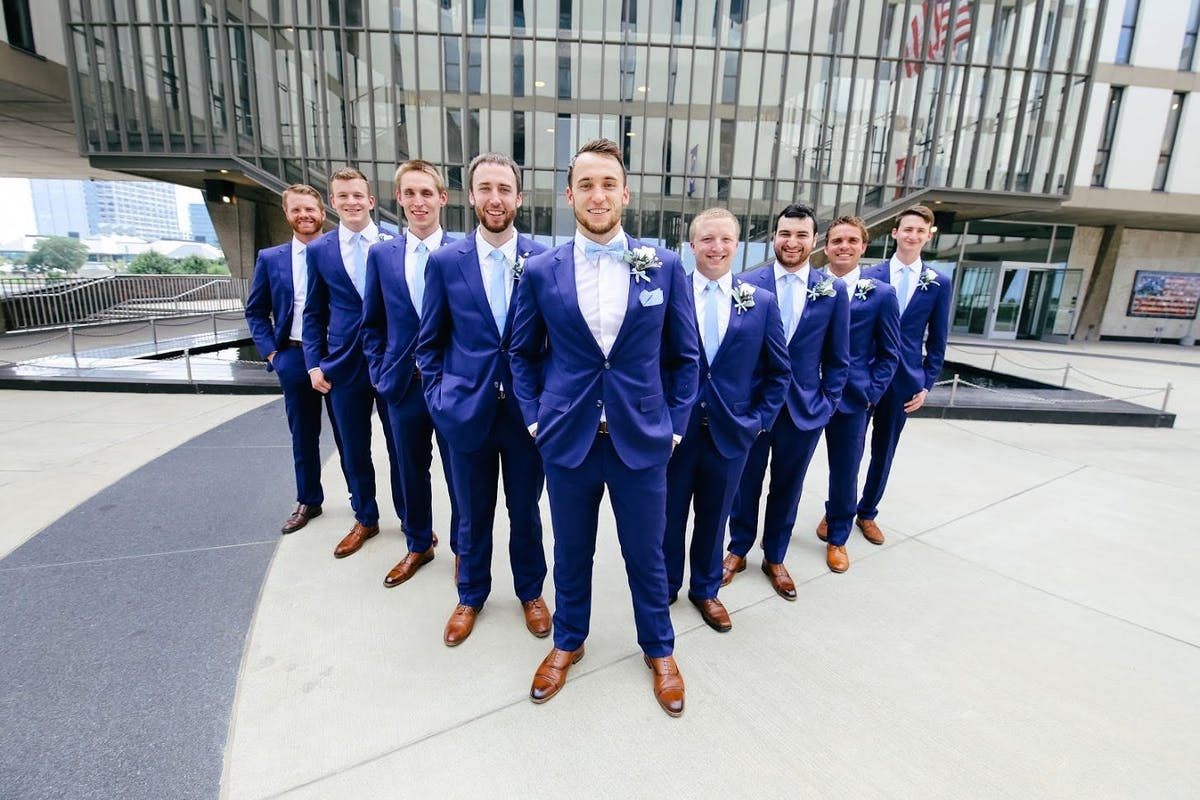 How grooms can stand out with a different tie