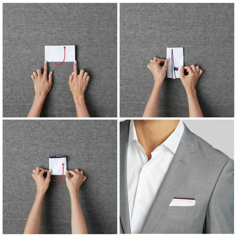 men's wedding style how to fold a pocket square