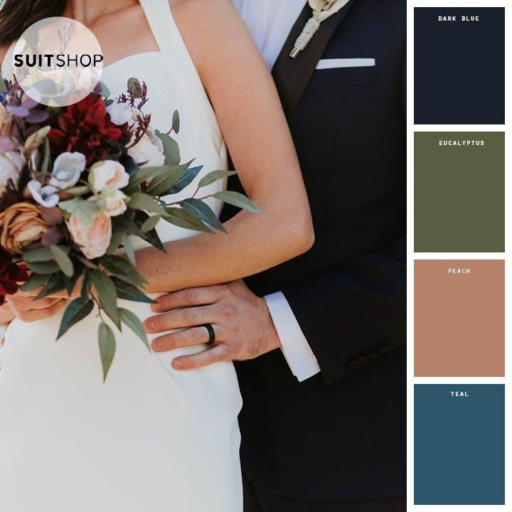 winter wedding color palettes