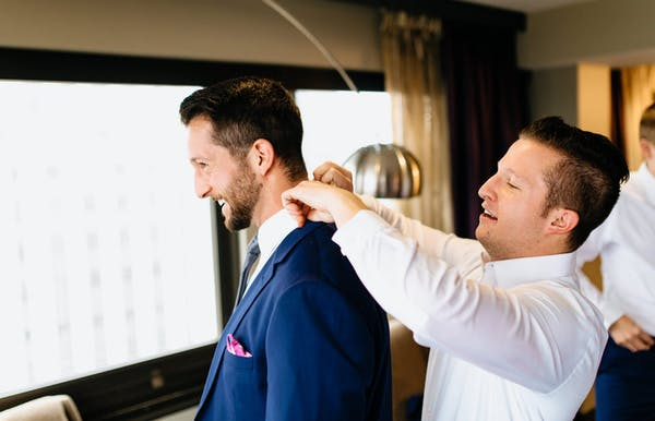 Planning the bachelor party, finding wedding suits and writing a wedding speech are responsibilities of the best man.