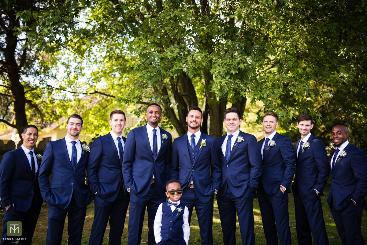 Navy Blue Wedding Suits For Men
