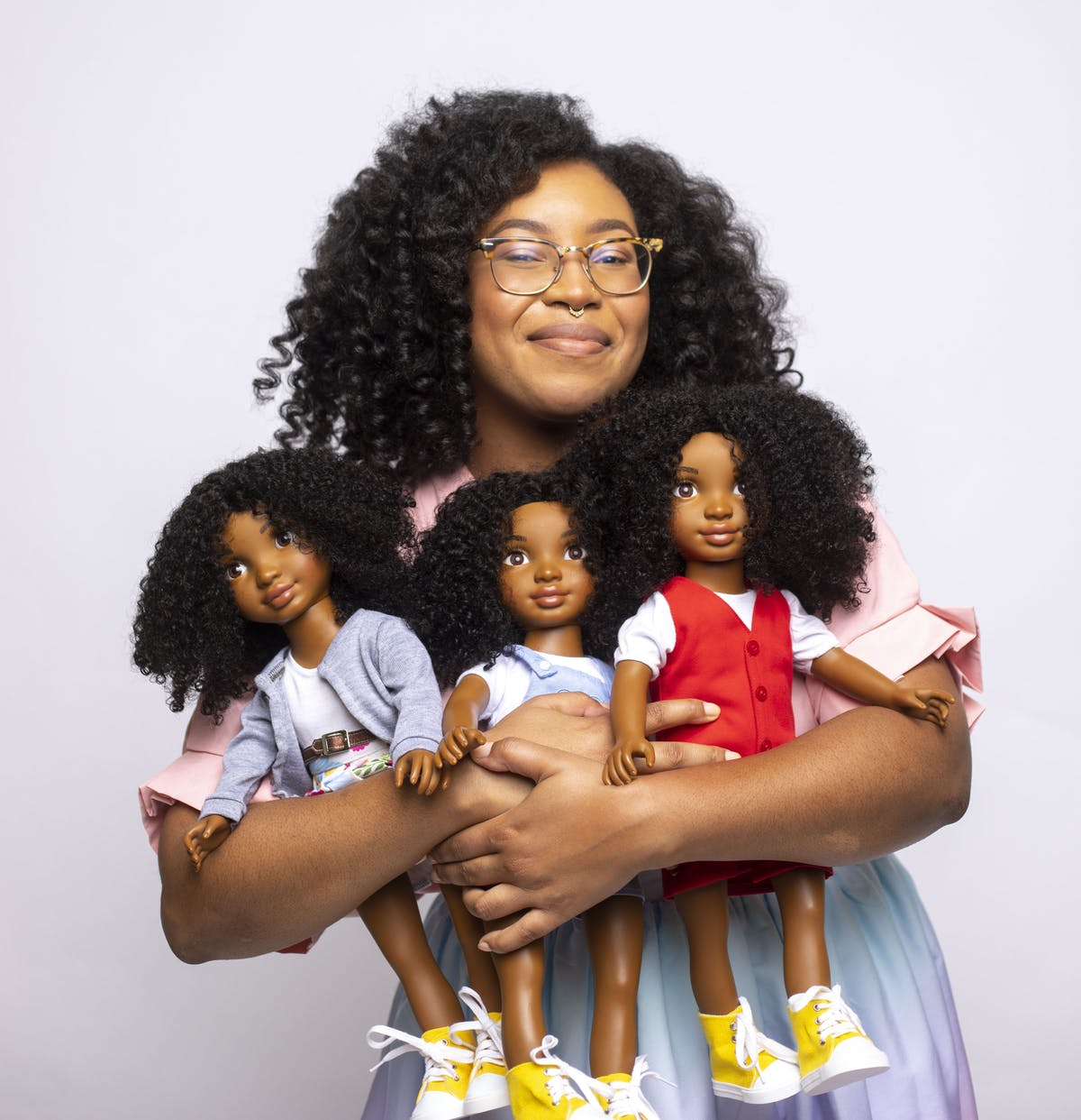 Female Founder of Healthy Roots Dolls, Yelitsa Jean-Charles. Natural curls.
