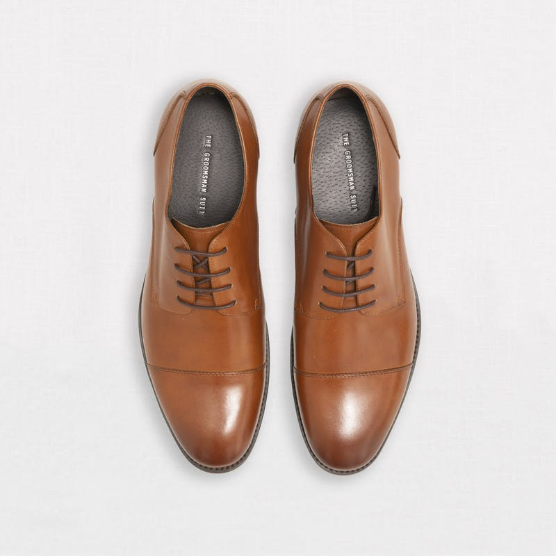 Men's tan wedding shoe