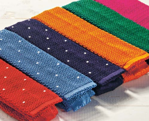 how to wear knit ties with your wedding attire for men
