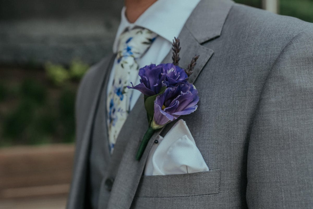 Spring Wedding Guide: Ultra Violet Boutonniere
