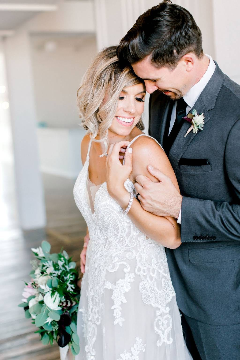 Charcoal gray is this year's most popular wedding color. It is the best wedding suit color for grooms and groomsmen.