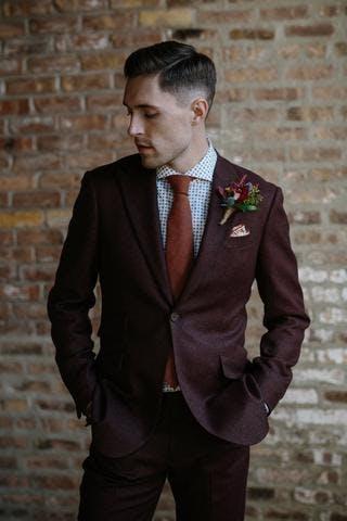 burgundy wedding attire for men
