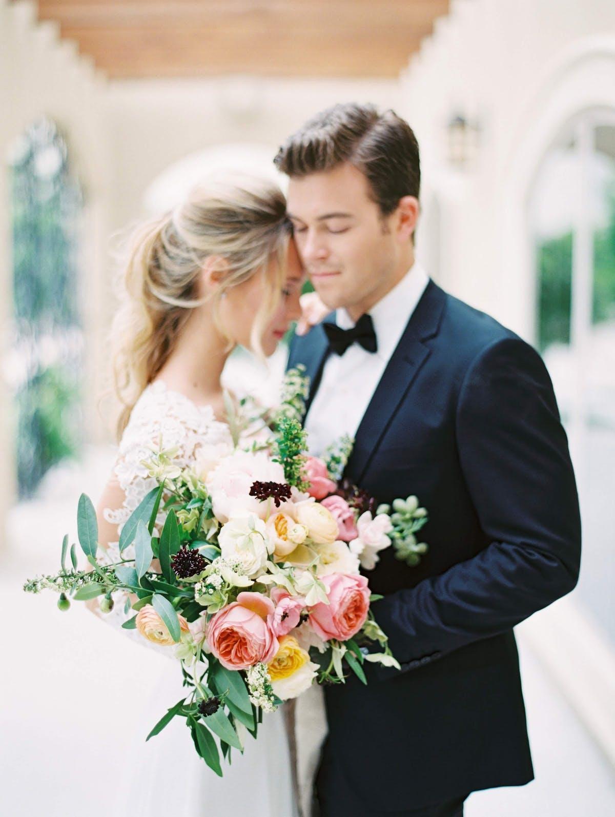 wedding tuxedo in ruffled blog