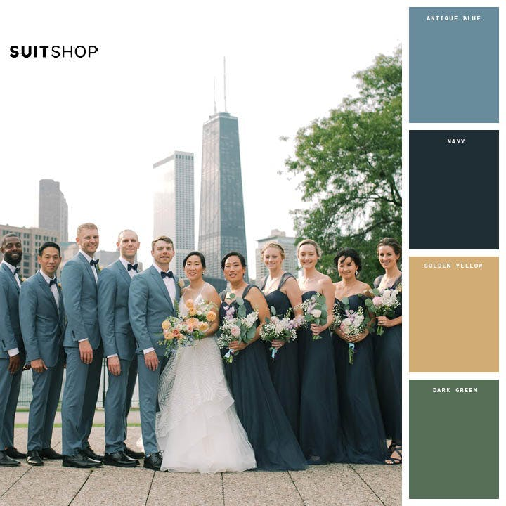 green wedding colors