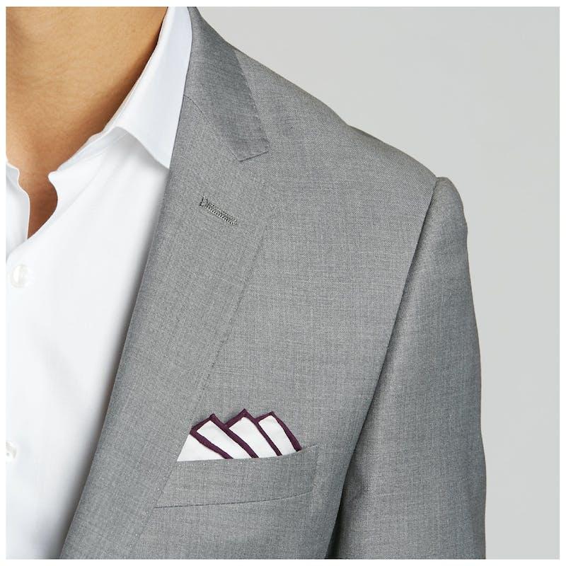 men's gray wedding suit
