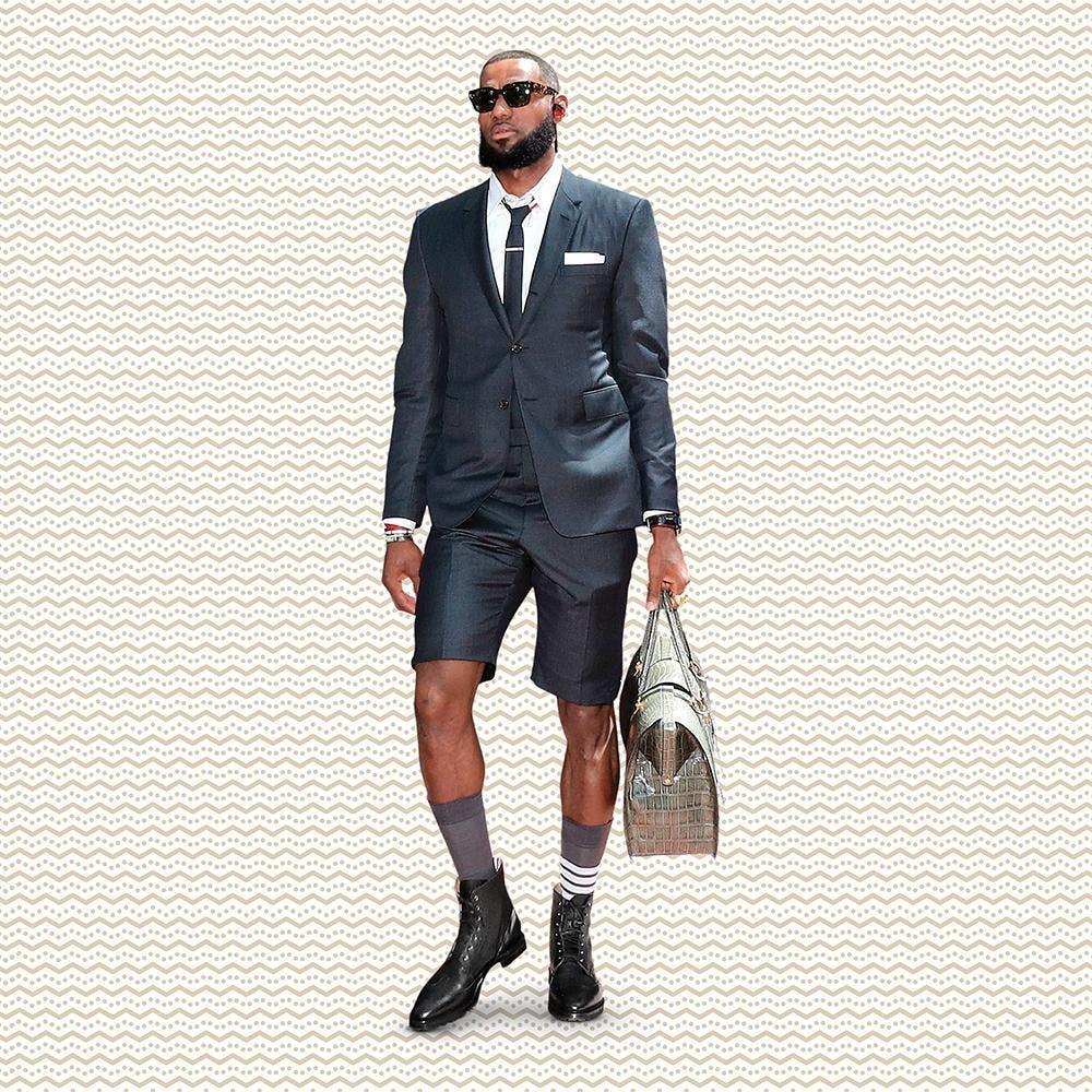 Lebron James Thom Browne Shorts Suit