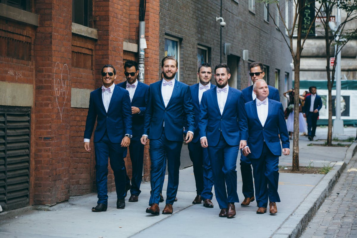 Blue suits for groomsmen and grooms The Groomsman Suit
