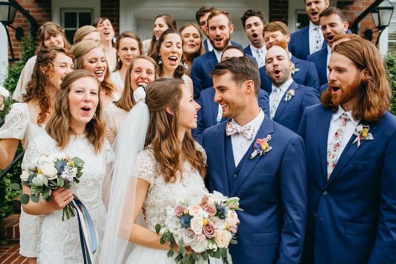 brilliant blue wedding suits for men