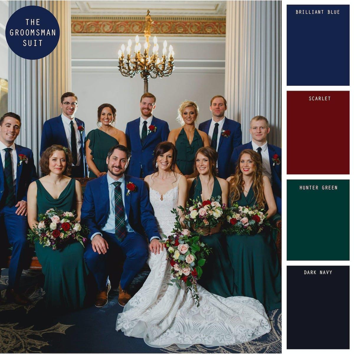 green winter wedding color ideas