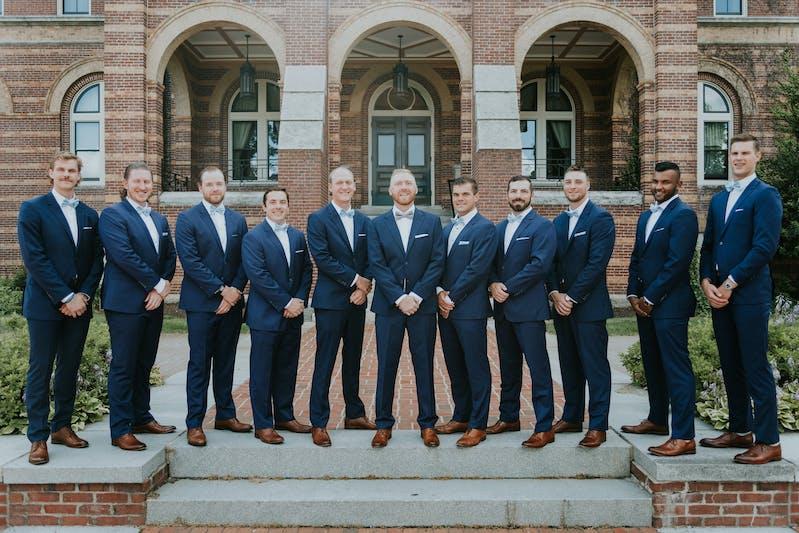 navy blue suits for men