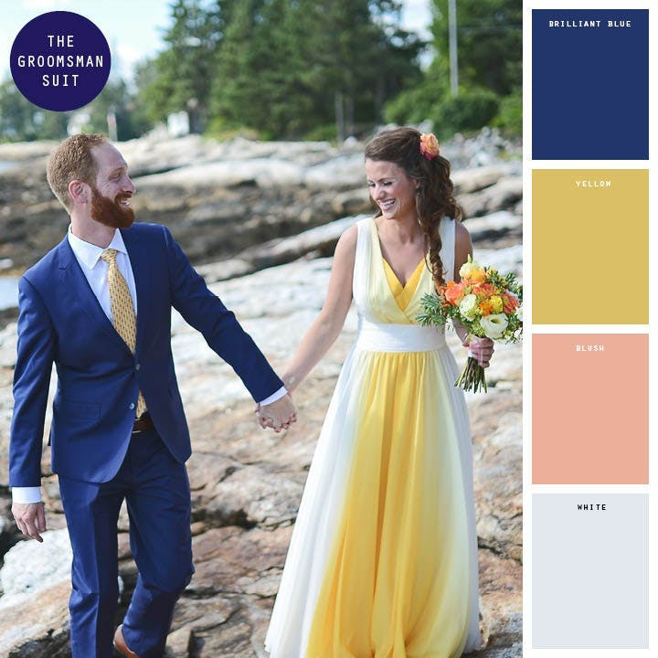 Fall Wedding Colors_Royal Blue and Golden Pineapple