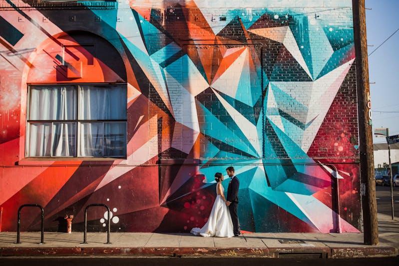 mural wedding photo inspiration