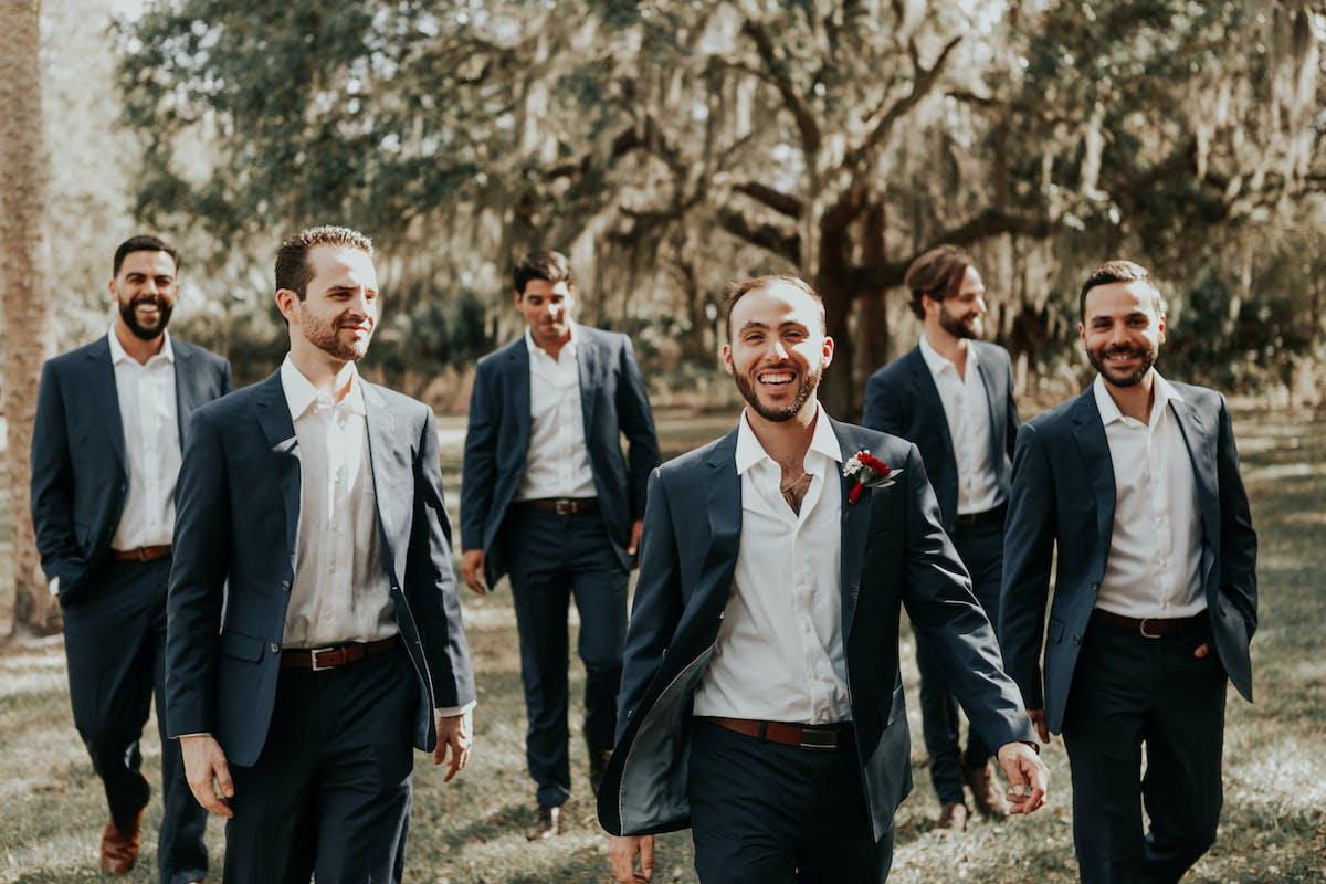 Real Weddings_Blue Wedding Suits