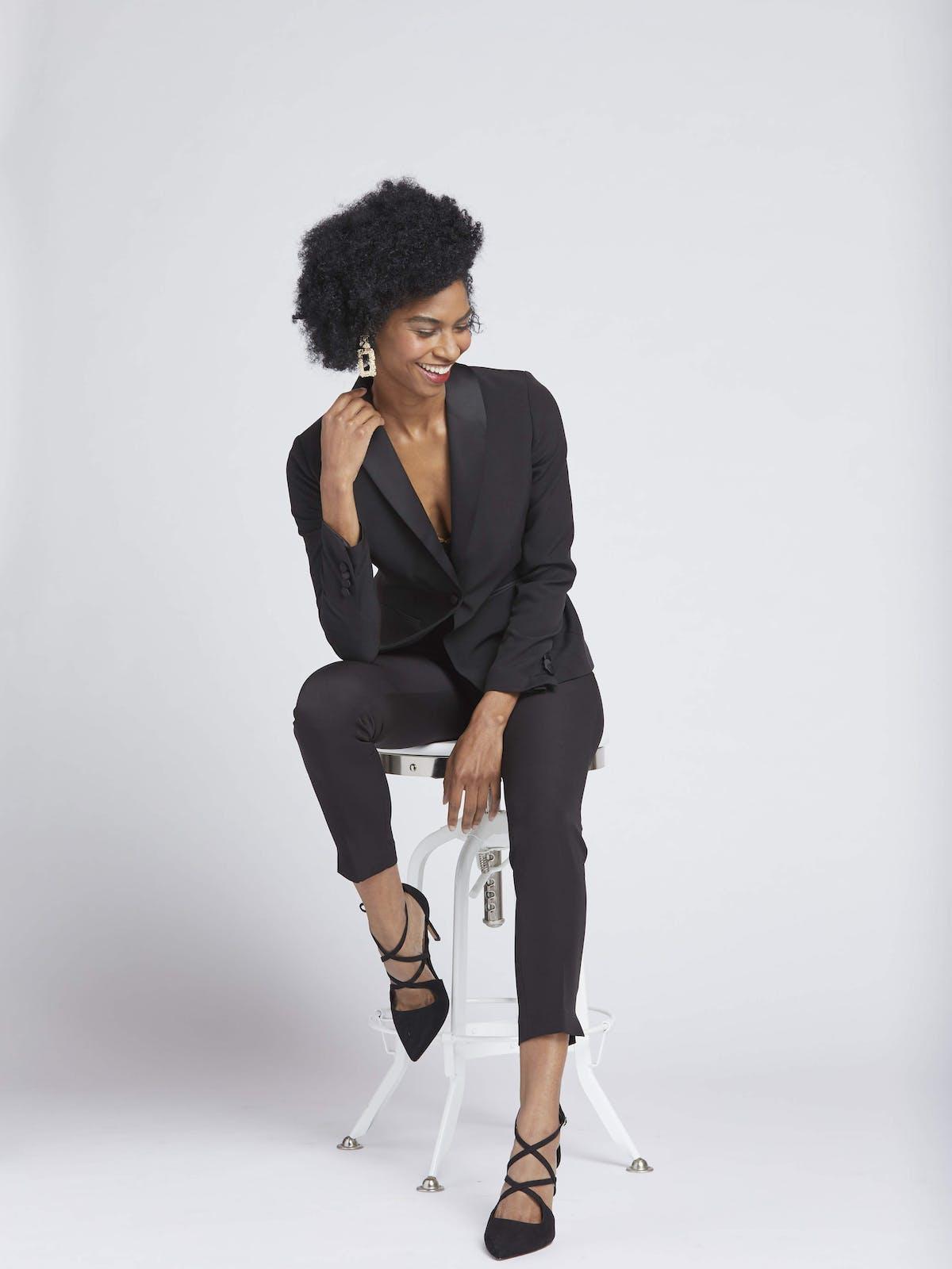 black suit for women