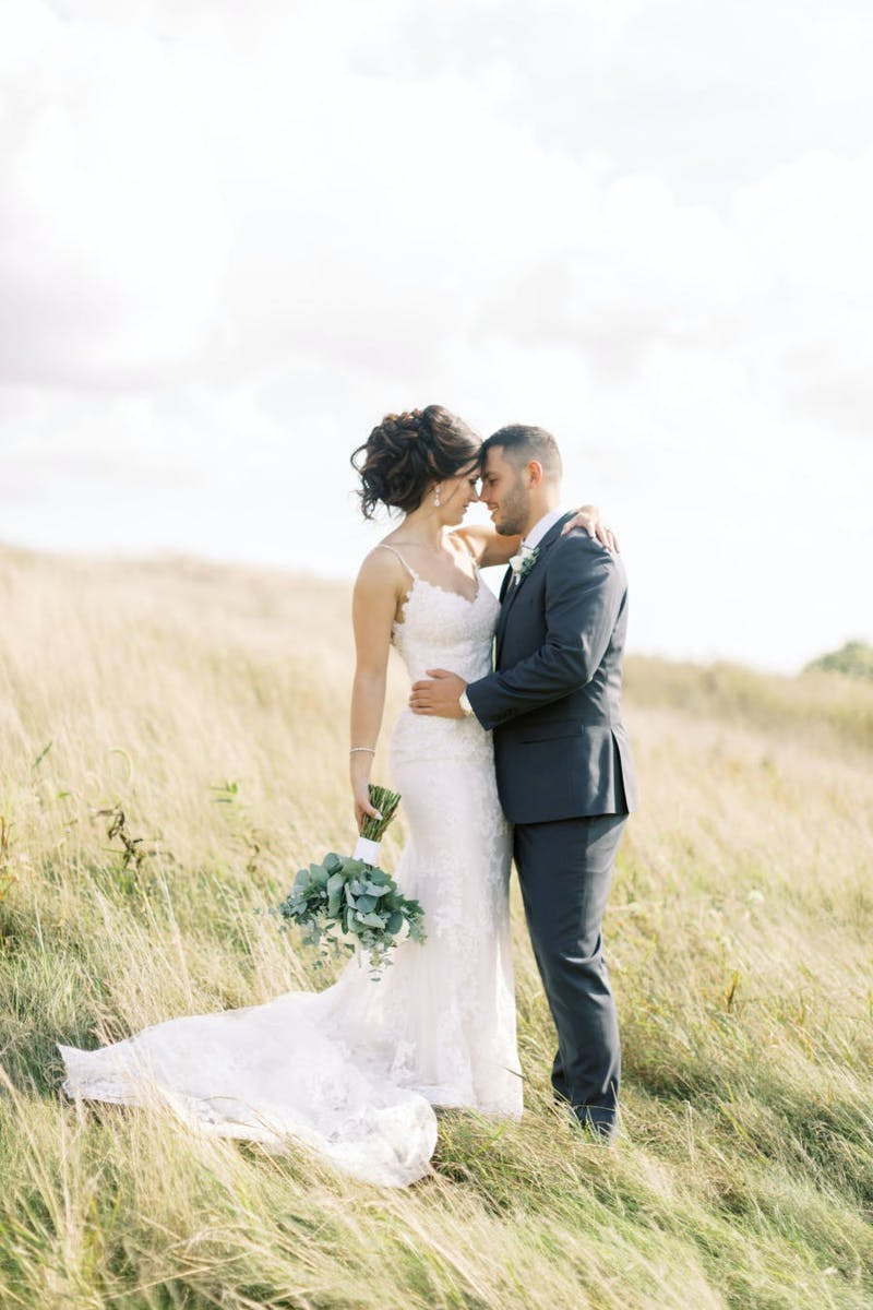 Charcoal suits look amazing in fall weddings.