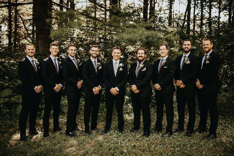 Black wedding suits for men