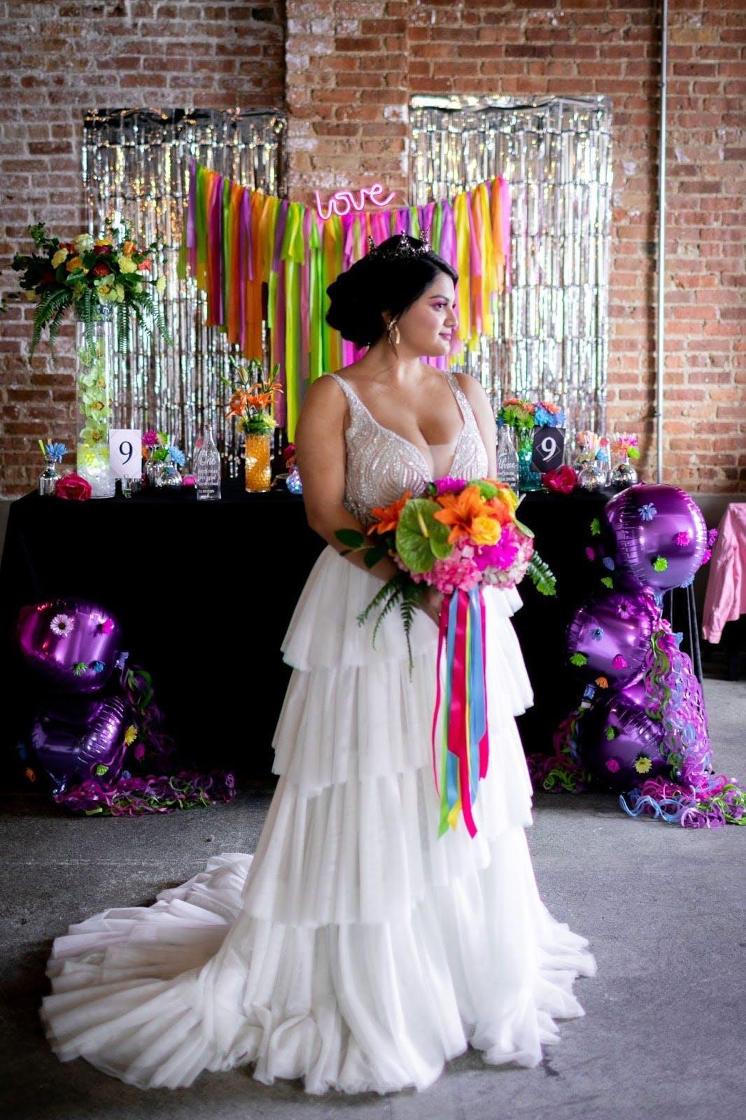 Neon inspired wedding ideas