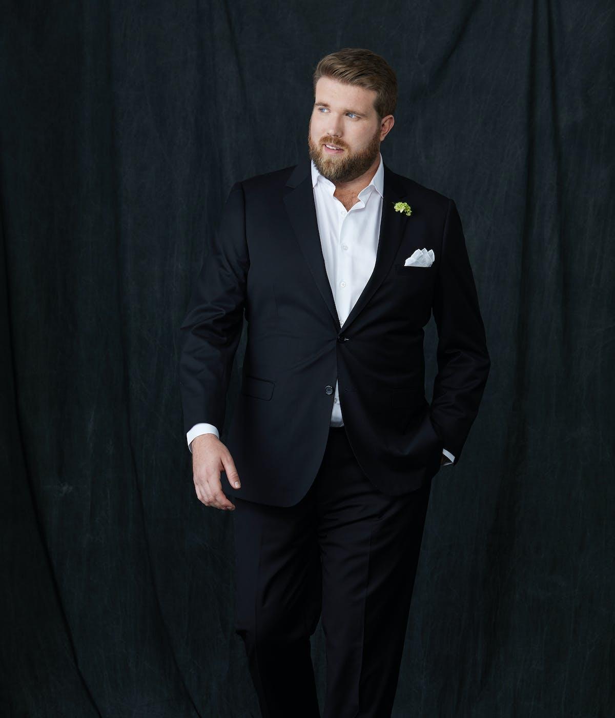 men's classic black suit