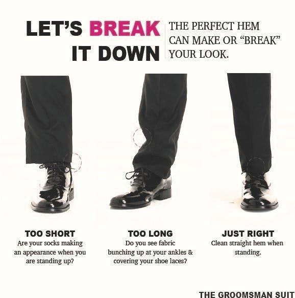 Wedding Tuxedo Pant Length