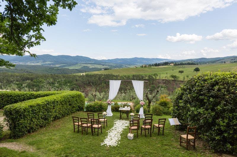 rustic italian wedding