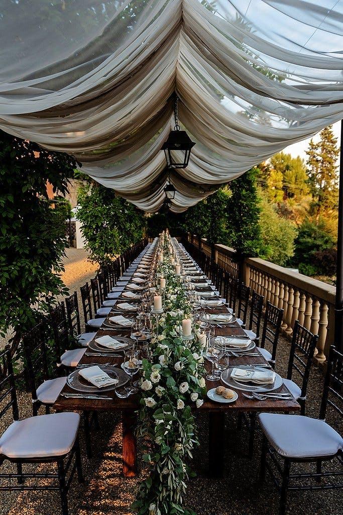 rust wedding table decor