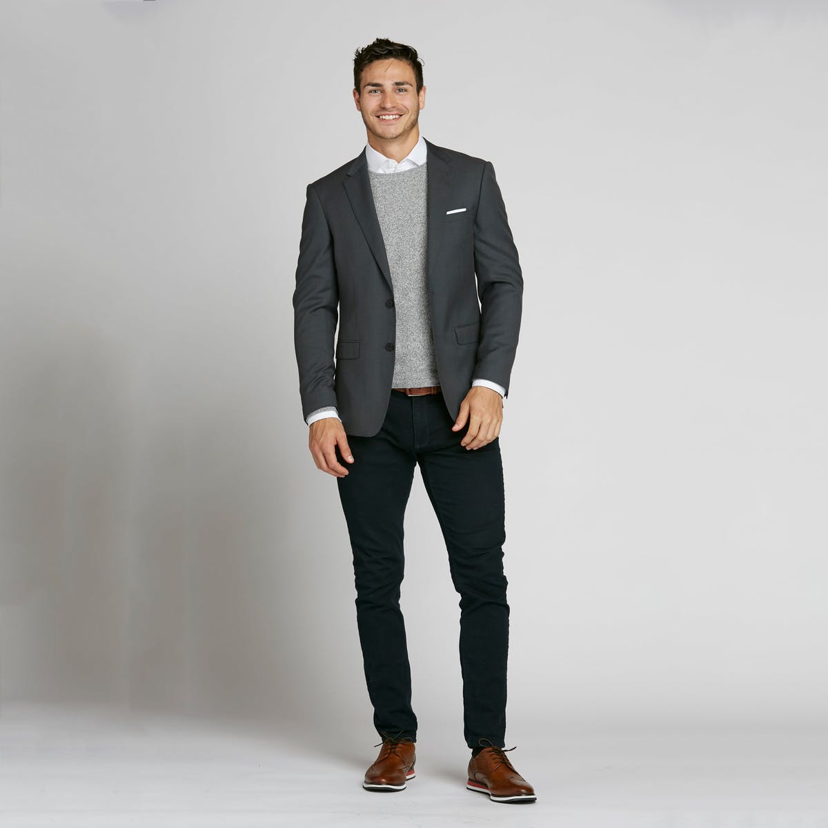 casual ways to style a suit jacket