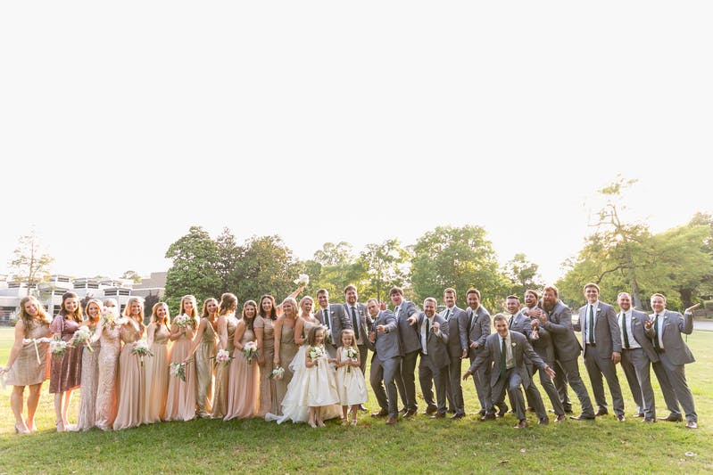 Textured gray wedding suits for men