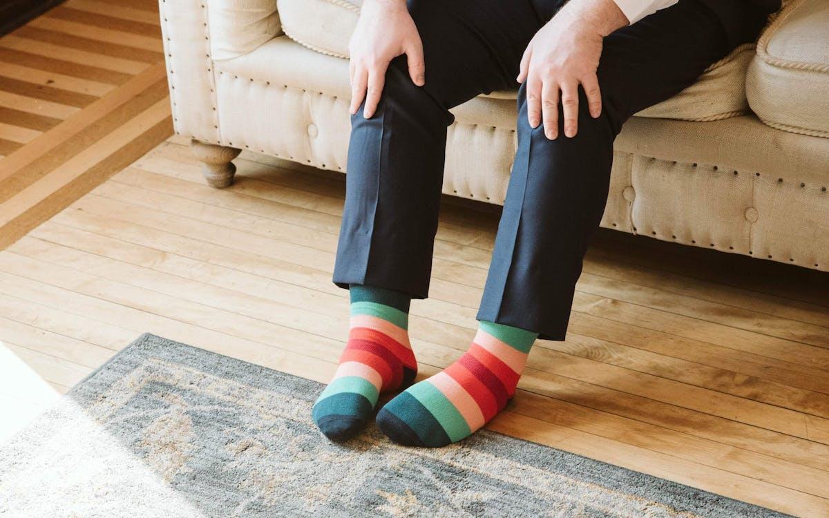 pride wedding socks