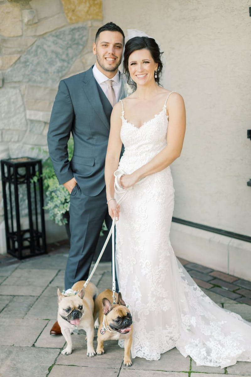 Tom and Mary included their dogs in their fall wedding.