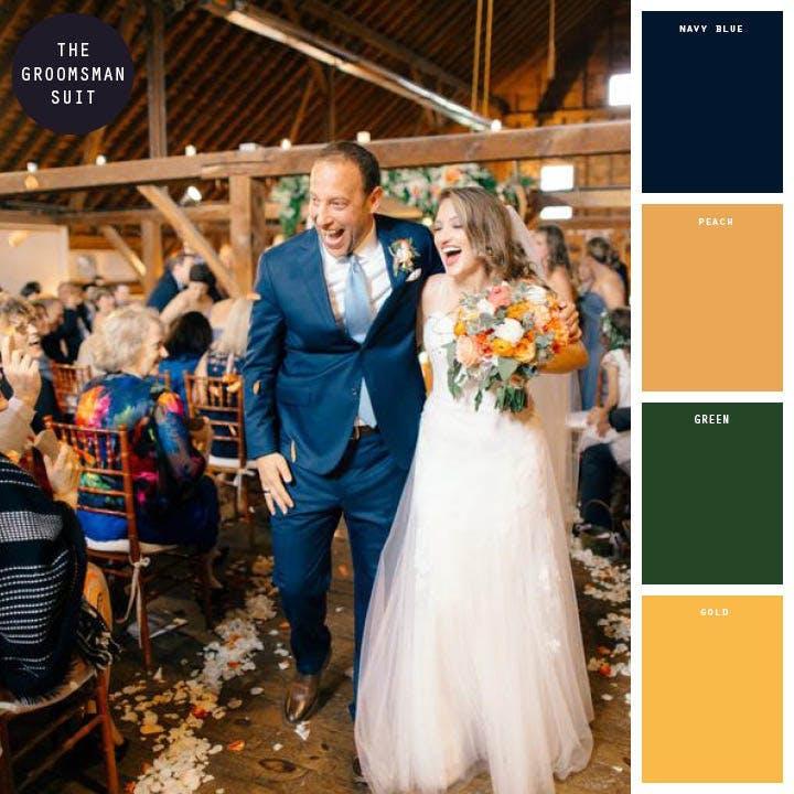 Fall Wedding Colors_Navy_Peach_Gold_Green